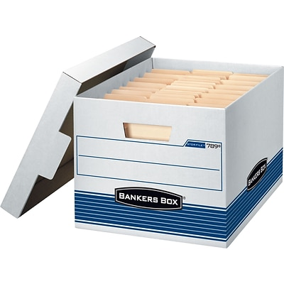 Bankers Box® Stor/File™ Medium-Duty Quick Set-Up Storage Boxes with Lift-Off Lid, Letter/Legal, 12/Ct (00789)