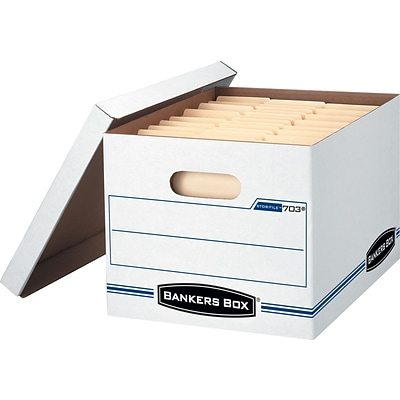 BANKERS BOX® Stor/File™ Basic Duty Storage Box with Lift-Off Lid, Letter/Legal, 12/CT (00703)