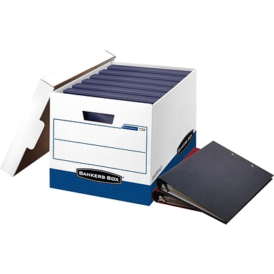Bankers Box® BinderBox™ Heavy-Duty FastFold® Storage Boxes with Lift-Off Lid, 12/Ct (0073301)