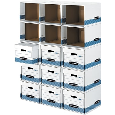 Bankers Box® File/Cube™ Quick Set-Up Box Shells, Letter/Legal, Stacks Up to 5 High, 6/Ct (0162601)