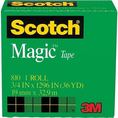 Scotch® Magic™ Tape, 3/4 x 1,296, 1 Box/Pack (810-3/4X36)