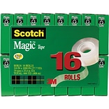 Scotch® Magic™ Tape Value Packs; 16 Rolls/Pack