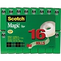 Scotch® Magic™ Tape Value Packs; 96 Rolls/Case; 6 packs of 16 rolls