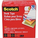 Scotch® 2W Clear Transparent Book Tape