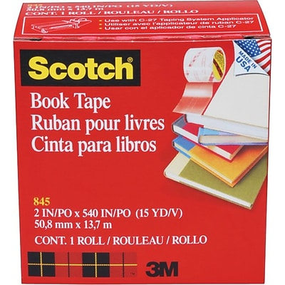 Scotch® Book Tape, Glossy Finish,  2 x 15 yds., 1 Roll (8452)