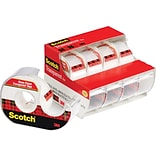 Scotch® Transparent Tape with Dispenser; 4/Pack
