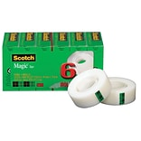 Scotch® Magic™ Tape, 3/4Wx1000L, 1 Core, 6/Pack