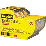 Scotch® Double-Sided Tape; 3/Pack