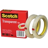 Scotch® Transparent Tape; 1/2 x 2592, 3 Core, 2/Pack
