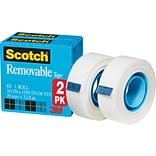 Scotch® Removable Tape, 3/4 x 1,296, 2 Boxes/Pack (811-2PK)