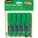 Scotch® Wrinkle-Free Glue Stick, 5/Pack