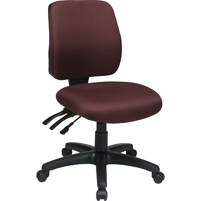 Office Star Worksmart Freeflex Fabric Mid Back Ergonomic Task Chair Without Arm Burgundy
