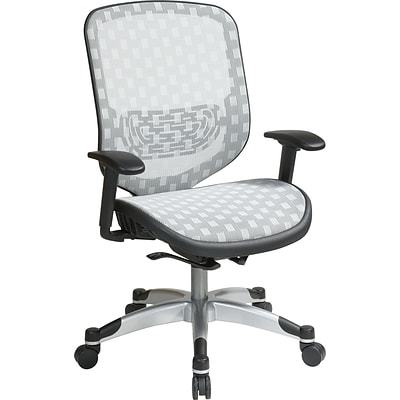 Office Star Space® Executive Office Chair with Flow-Thru Technology, White