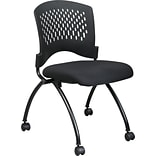 Office Star Proline II® Fabric Deluxe Armless Folding Chair with Plastic Back, Coal