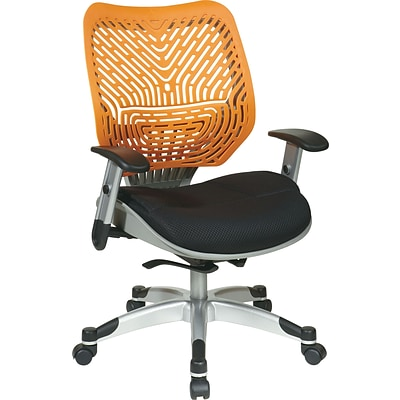 Office Star Space® REVV® Series Fabric Self Adjusting SpaceFlex® Back Managers Chair, Tang/Raven