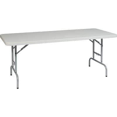 Office Star WorkSmart™ 29 1/4 H x 72 W x 30 D Resin Multi Purpose Table, Silver