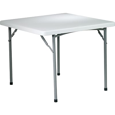 Office Star WorkSmart™ 29 H x 36 W x 36 D Resin Square Table, Light Gray