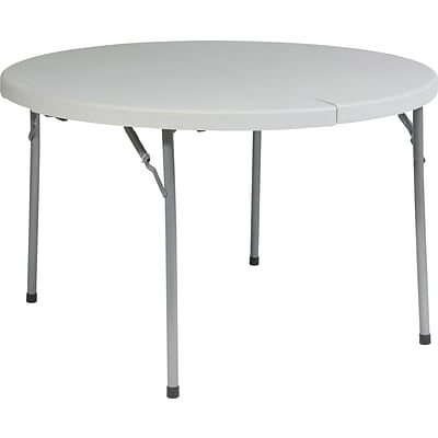 Office Star WorkSmart™ 29 1/4H x 48W x 48D Resin Round Fold in Half Multi Purpose Table, White