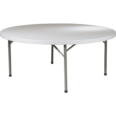 Office Star WorkSmart™ 71 Resin Round Multi Purpose Table, Light Gray