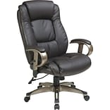 Office Star WorkSmart™ Eco Leather Executive Chair with Height Adjustable Padded Arm, Espresso