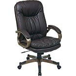 Office Star WorkSmart™ Executive Chair with Locking Tilt Control, Eco Leather, Espresso