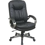 Office Star WorkSmart™ Executive Chair with Locking Tilt Control, Eco Leather, Black