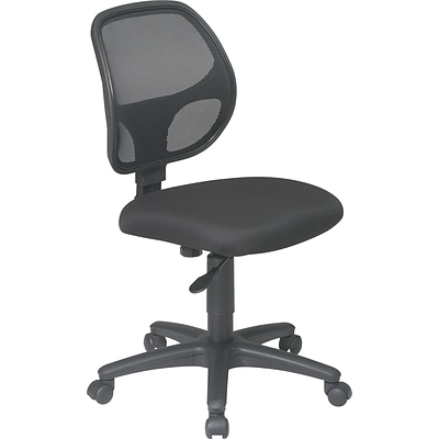 Office Star Mesh Screen Back Task Chair, Black