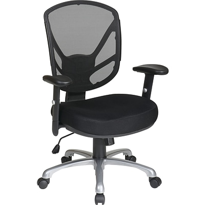 Flash Furniture Vibrant High Density Polymer Computer Task Chair with Tractor Seat, Black