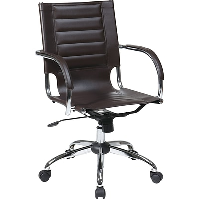 Office Star Avenue Six® Vinyl Trinidad Office Chair, Espresso