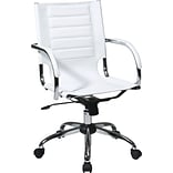 Office Star Avenue Six® Vinyl Trinidad Office Chair, White