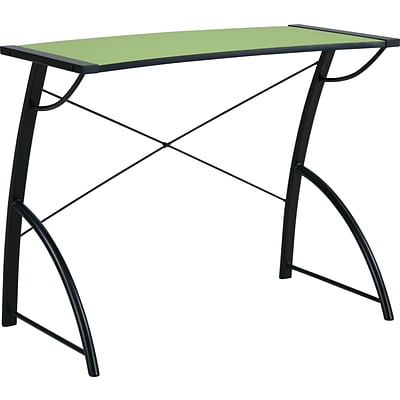 Office Star OSP® Designs Wood Trace Reversible Desk, Caliste Green/Black