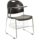Raynor Eurotech Aire-S3000-Stacking Chair, In Black/Perforated Back, Black