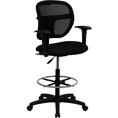Belnick Mid Back Mesh Drafting Stool with Arm Review Black  sc 1 st  Quill.com & Belnick Mid Back Mesh Drafting Stool with Arm Review Black | Quill.com