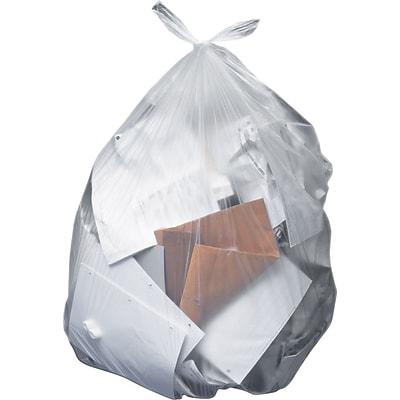 10 gal Medium Duty 8 mic -1000 Count 24/'/' x 24/'/' Trash Bag Clear