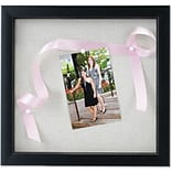 8x8 Black Shadow Box Frame - Linen Inner Display Board