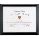 11x14 Black Diploma Frame - Domed Top