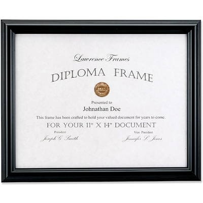 11x14 Black Diploma Frame Domed Top Quillcom