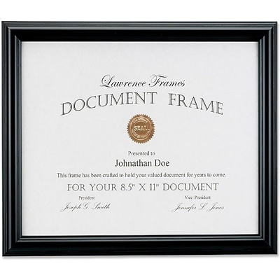 185081 Black Document 8.5x11 Picture Frame