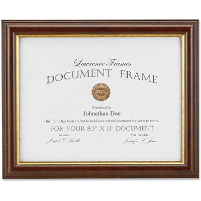 185181 Walnut & Gold Document 8.5x11 Picture Frame