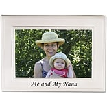 Brushed Metal 4x6 Me and My Nana Picture Frame - Sentiments Collection
