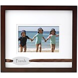 Walnut Wood Double Mat 6x4 Picture Frame - Friends Design