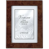 Walnut Faux Burl 8x10 Picture Frame - Polished Lustrous Finish With Sides Finished In Black