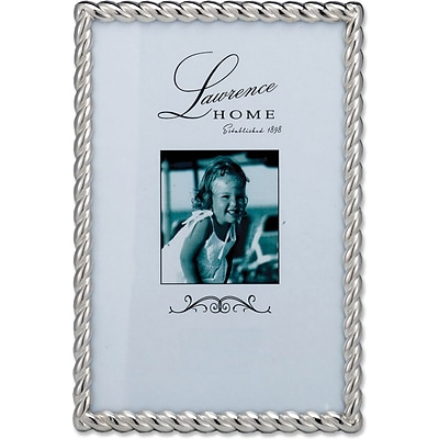 710046 Silver Metal Rope 4x6 Picture Frame
