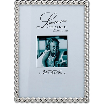 710057 Silver Metal Rope 5x7 Picture Frame