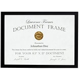 8.5x11 Black Wood Certificate Picture Frame - Gallery Collection