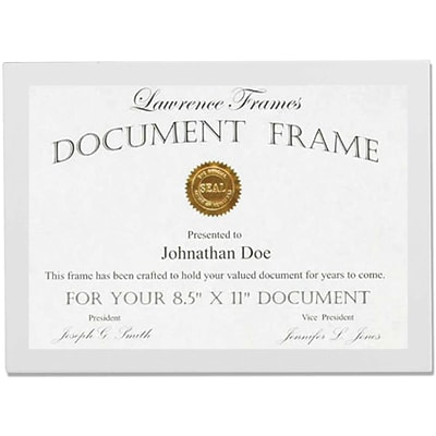 8.5x11 White Wood Certificate Picture Frame - Gallery Collection