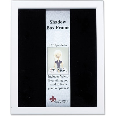 790280 White Wood Shadow Box 8x10 Picture Frame