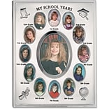 My School Years Silver Plated  8x10 Multi Picture Frame