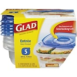 Glad® Food Storage Containers, Entree, 25oz...