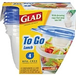 Glad® Food Storage Containers, To Go Lunch,...